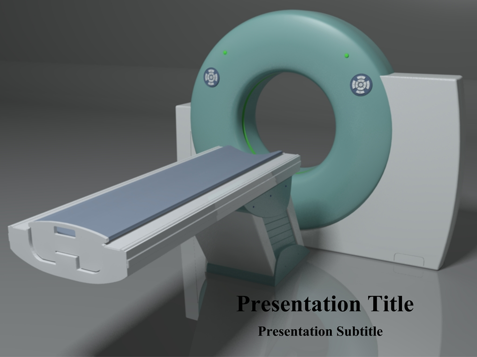 CT Scanner PowerPoint Template