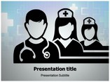 Medical Team Silhouettes PowerPoint Template
