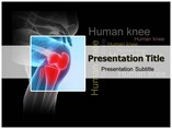 Human knee PowerPoint Template