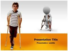 Kids Physical Disabilities Template PowerPoint